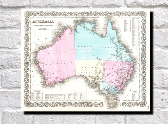 Vintage Map Prints - Fine Art Re-Prints