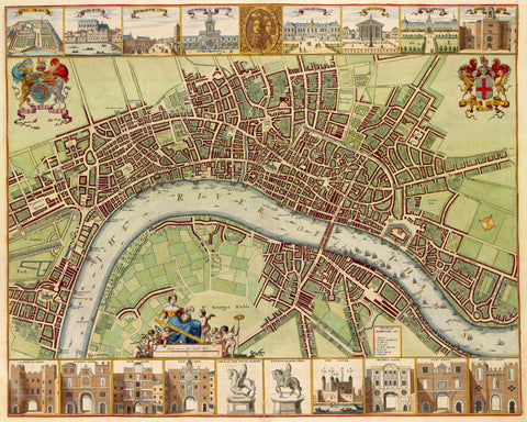 London Street Map Print Vintage Poster Old Map as Art - OnTrendAndFab
