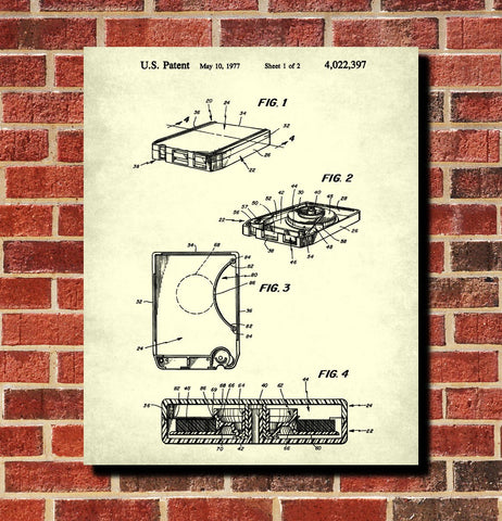 8 Track Cartridge Patent Print Music Blueprint Poster - OnTrendAndFab