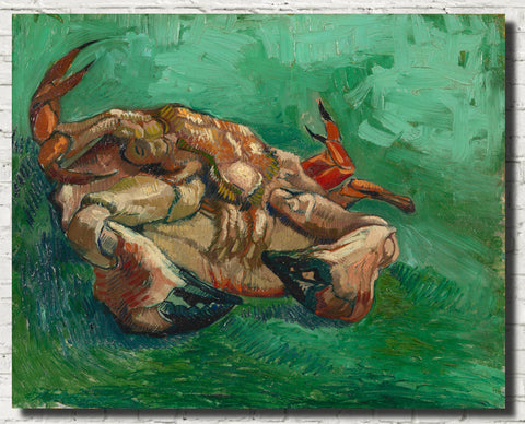 Vincent Van Gogh Fine Art Print, A Crab on its Back