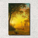Albert Bierstadt, Old Masters Landscape Print : Forest Light