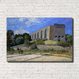 Alfred Sisley Fine Art Print Aqueduct at Morly Impressionist Painting