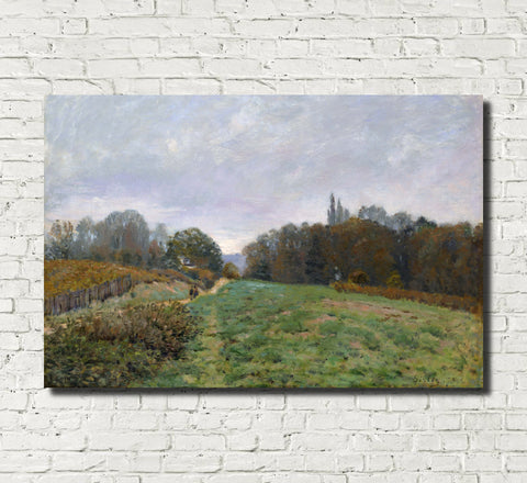 Alfred Sisley Fine Art Print Landscape at Louveciennes Impressionist Painting
