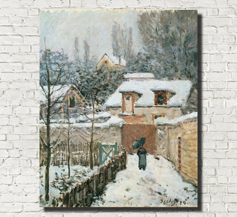 Alfred Sisley Fine Art Print Snow at Louveciennes Impressionist Painting