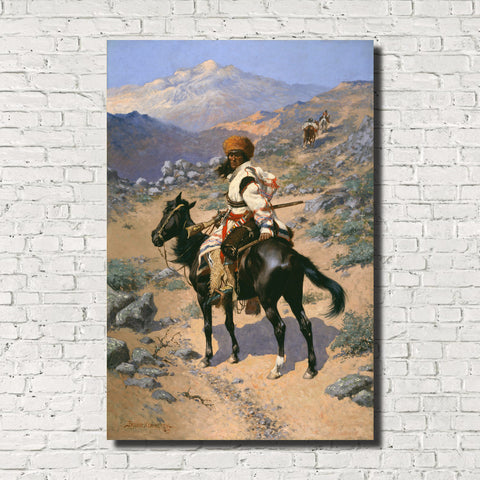 Frederic Remington, Old Masters Fine Art Print : An Indian Trapper