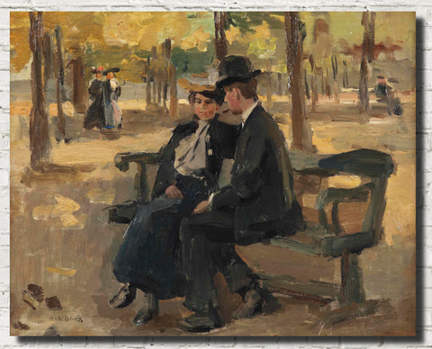 Isaac Israëls Fine Art Print, An afternoon in the Bois de Boulogne, Paris