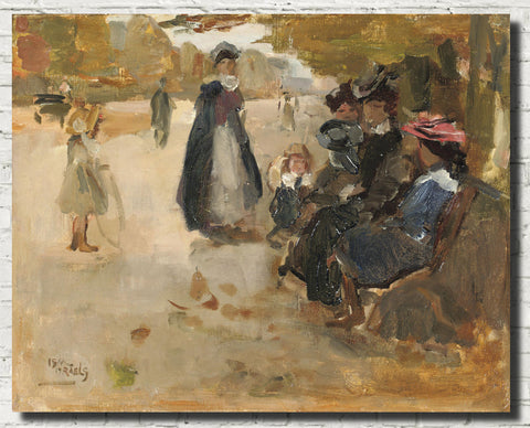 Isaac Israëls Fine Art Print, An Autumn Day in a Park, Paris