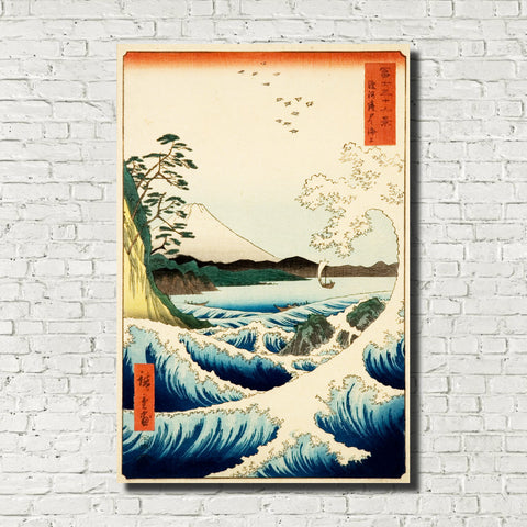 Andō Hiroshige, Japanese Art, Old Masters Print : Sea at Satta