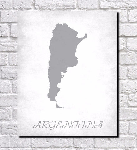 Argentina Map Print Outline Wall Map of Argentina - OnTrendAndFab