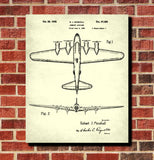 B17 Bomber Vintage Airplane Patent Print Aircraft Blueprint Poster