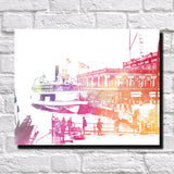 Belle Isle Ferry Print City Landscape Poster Feature Wall Art