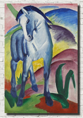 Franz Marc Abstract Fine Art Print, Blue Horse I