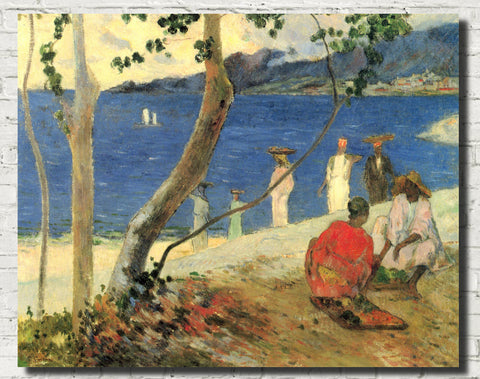 Paul Gauguin Fine Art Print : Bord de Mer, Seaside