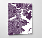 Boston City Street Map Print Modern Art Poster Home Decor - OnTrendAndFab