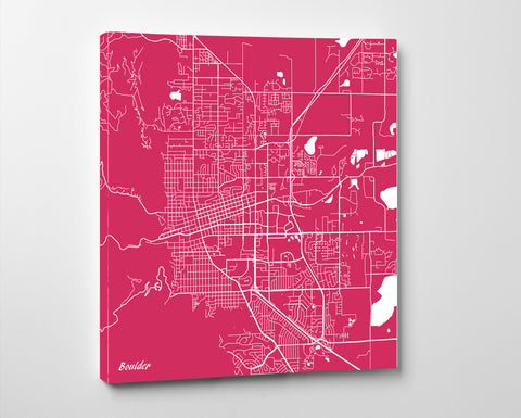 Boulder City Street Map Print Custom Wall Map Poster - OnTrendAndFab