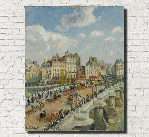 Camille Pissarro Fine Art Print The Pont-Neuf Impressionist Painting