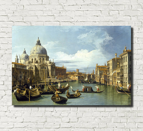 Canaletto, Landscape Print : Grand Canal Entrance Venice