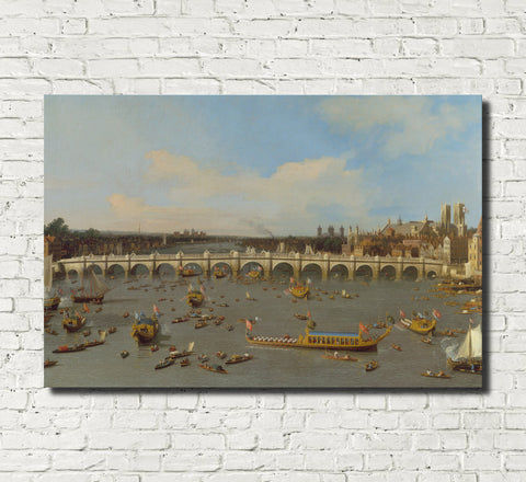 Canaletto, Landscape Print : Westminster Bridge London