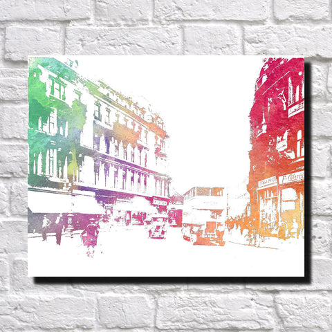 Charing Cross Glasgow City Skyline Print Landscape Poster Feature Wall Art