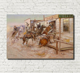 Charles Marion Russell, Fine Art Print : In Without Knocking