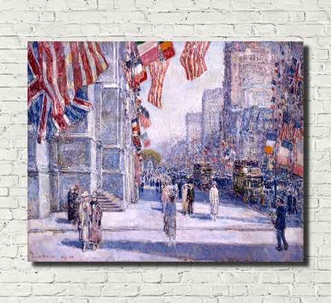 Frederick Child Hassam, Fine Art Print : Early Morning Avenue