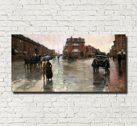 Frederick Child Hassam, Fine Art Print : Rainy Day, Boston
