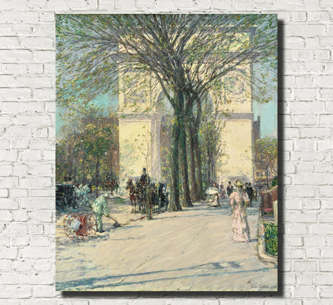 Frederick Child Hassam, Fine Art Print : Washington Arch Spring