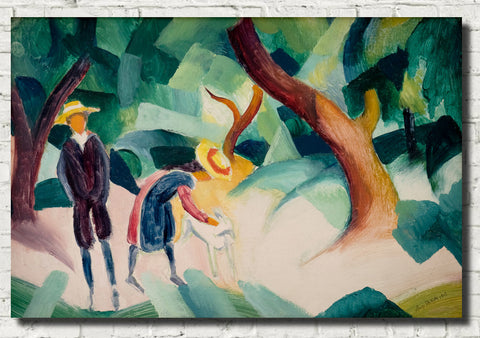 August Macke Abstract Fine Art Print, Children With Goat