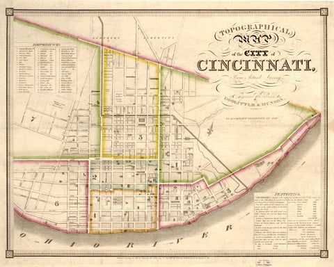 Cincinnati Street Map Print Vintage Ohio Poster Old Map as Art - OnTrendAndFab