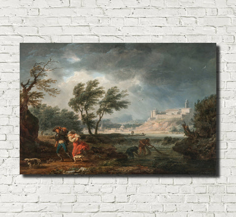 Claude Joseph Vernet, Fine Art Print : Four Times of Day, Midday
