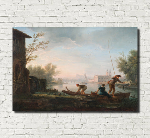 Claude Joseph Vernet, Fine Art Print : Four Times of Day, Morning