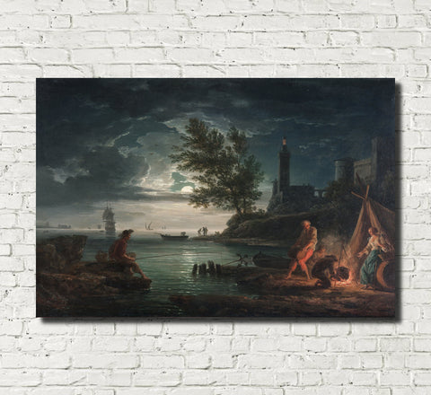 Claude Joseph Vernet, Fine Art Print : Four Times of Day, Night