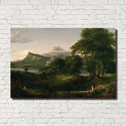 Thomas Cole, Old Masters Fine Art Print, Arcadian Pastoral State