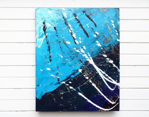 Original Painting James Lucas, Sea Storm Abstract