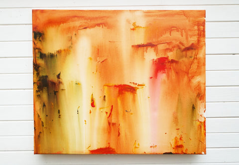 Original Painting James Lucas, Canyons II Abstract