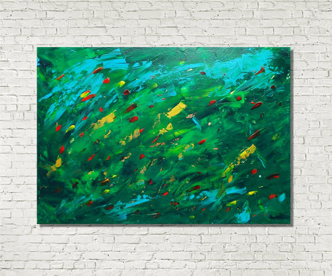 Original Painting James Lucas, Blown Abstract