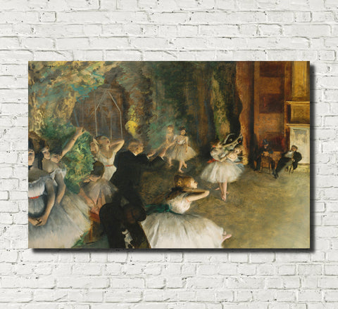 Edgar Degas, French Fine Art Print : Rehearsal of the Ballet