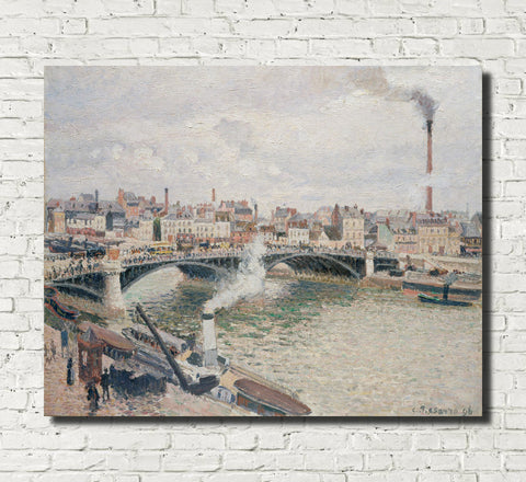 Camille Pissarro Fine Art Print View of Rouen Impressionist Painting