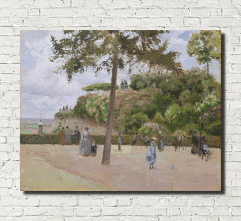 Camille Pissarro Fine Art Print The Public Gardens at Pontoise Impressionist Painting