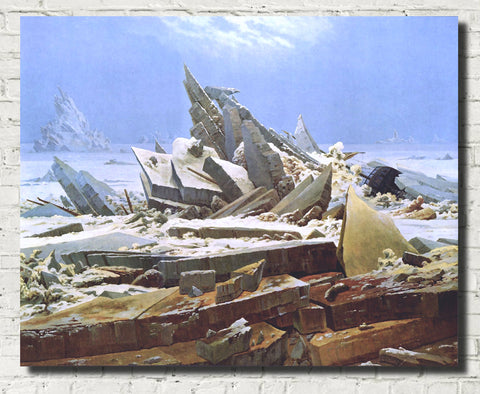 Sea of ice, Casper David Friedrich Fine Art Print