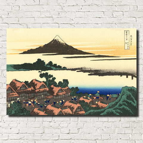 Katsushika Hokusai, 36 Views Mount Fuji, Dawn at Isawa