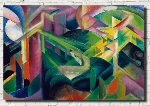 Franz Marc Abstract Fine Art Print, Deer in a Monastery Garden