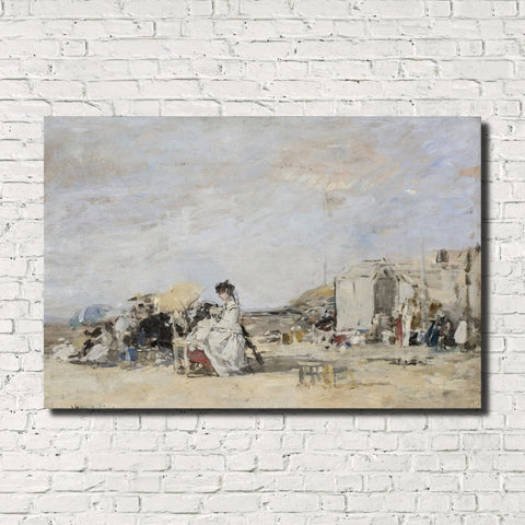 Eugène Boudin, Old Masters Fine Art Print : Lady in White