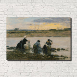 Eugène Boudin, Old Masters Fine Art Print : Washer Women