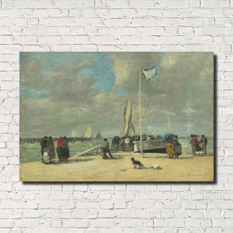 Eugène Boudin, Old Masters Fine Art Print : On The Jetty