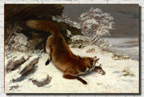 Gustave Courbet Fine Art Print, Fox in the Snow