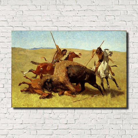 Frederic Remington, Old Masters Fine Art Print : The Buffalo Hunt
