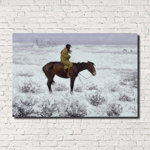 Frederic Remington, Old Masters Fine Art Print : The Herd Boy