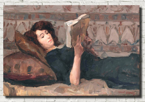 Isaac Israëls Fine Art Print, Girl Reading on a Divan