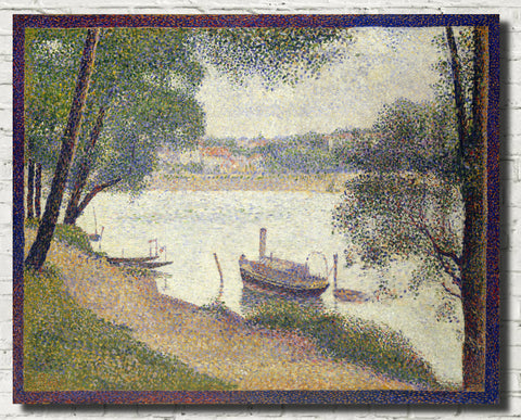 Georges Seurat Print : Gray Weather Grand Jatte